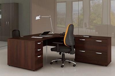Nova Walnut 3 Drawer Filing Cabinet