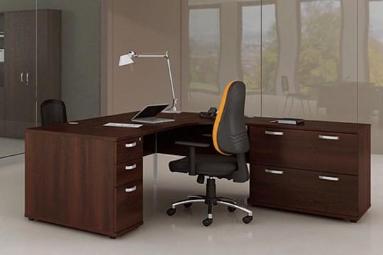 Nova Walnut Panel End Corner Desk
