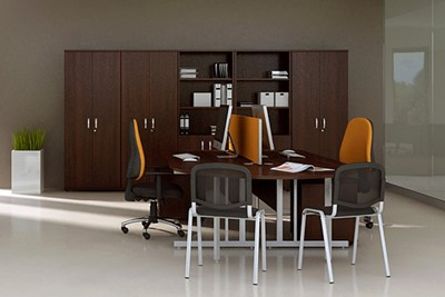 Nova Walnut 2000 Office Bookcase