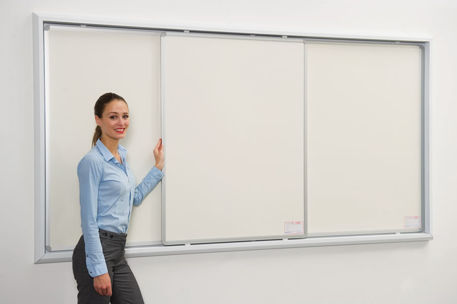 Wall Mounted Sliding Whiteboards