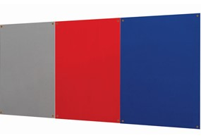Decorative Unframed  Noticeboard - 900 x 600mm Blue