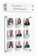 Crystal Wall Staff Board - 320 x 386mm 9 Pockets No