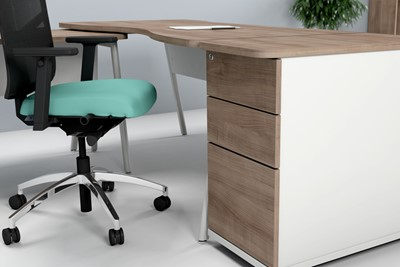 Ascend Desk High Three Drawer Pedestal