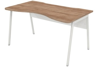Ascend Birch Double Wave Desk - 1200mm x 800mm
