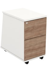 Ascend Desk High Two Drawer Pedestal - Birch