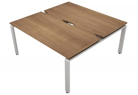 Aura Beam 2 Rectangular Bench Desk - 1200mm 600mm Birch Silver