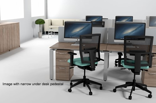 Aura Beam 6 Person Rectangular Bench Desk