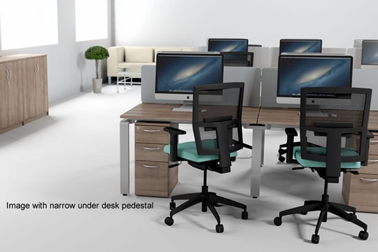 Aura Beam 6 Person Rectangular Bench Desk