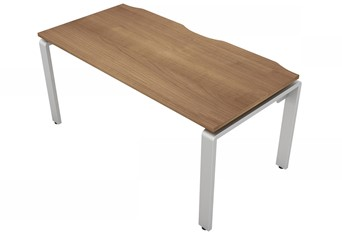 Aura Beam Rectangular Bench Desk - 1200mm 600mm Birch Silver