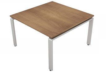 Aura Meeting Table - 1200 x 1200mm Birch Silver