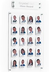 Crystal Wall Class Board - 320 x 386mm 9 Pockets No