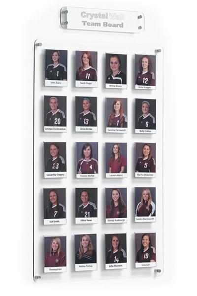 Crystal Wall Team Board