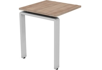 Aura Beam Return Desk - 800mm Birch Silver