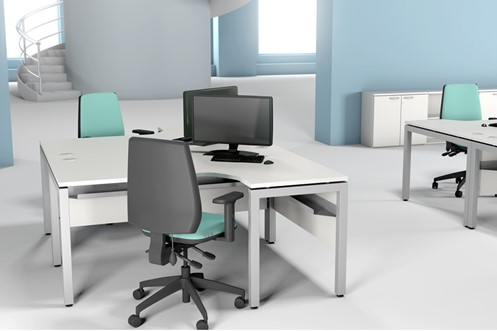 Duty Crescent Desk With Cable Management