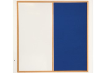 Eco Friendly Wood Pinup Pen Board - 900 x 600mm Blue