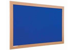 Eco Friendly Wood Effect Noticeboard - 900 x 600mm Blue