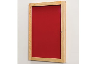 Beech Wood Frame Tamperproof Noticeboard