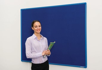 Colour Co-Ordinated Noticeboards - 900 x 600mm Blue