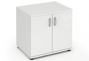 Polar White Desk High Office Cupboard