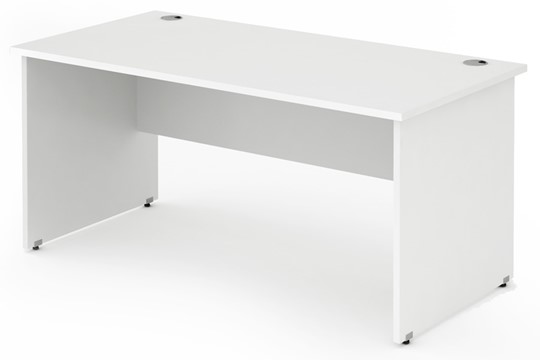 Polar white Rectangular Panel End Desk