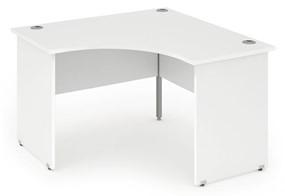 Polar White Corner Panel Leg Desk