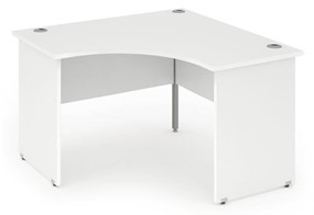 Polar White Corner Panel Leg Desk