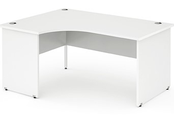 Polar White Panel End Corner Desk - Left Handed 1600mm  x 1200mm Left Hand