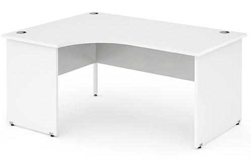 Polar White Panel End Corner Desk