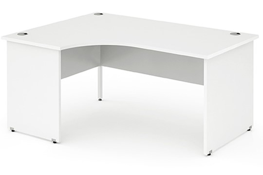 Polar White Panel End Corner Desk