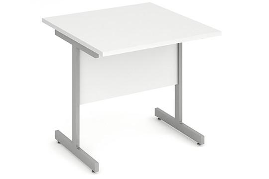 Polar White Small Cantilever Desk