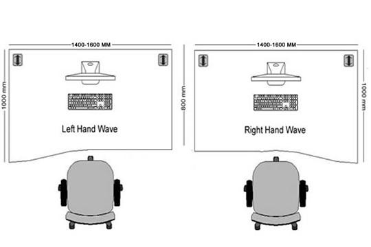 Kestral Grey Oak Wave Panel Leg Desk