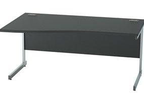 Nene Black Wave Cantilever Desk