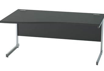 Nene Black Wave Cantilever Desk - 1200mm Left Hand Wave