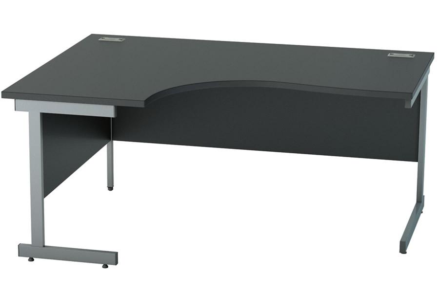 info for 8c613 95bf0 Black L-Shaped (Left) Corner Cantilever Desk - 1400mm x 1200mm - Nene