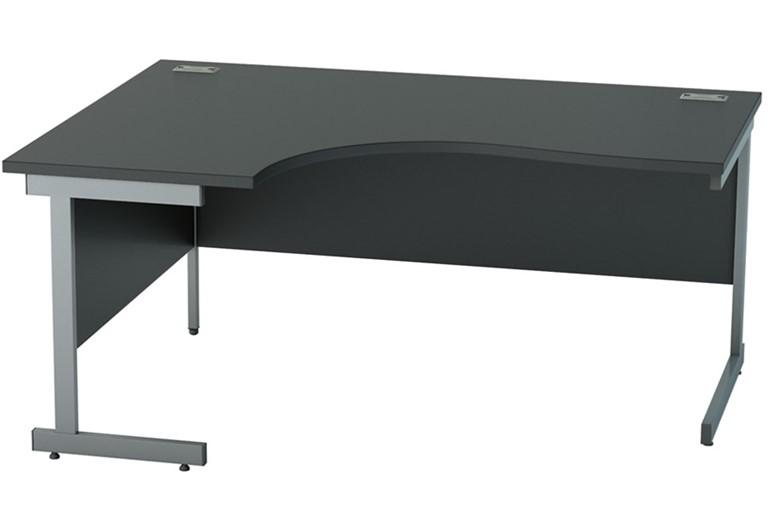 Nene Black Corner Cantilever Desk