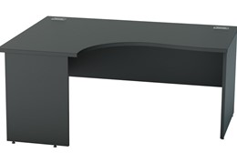 Nene Black Crescent Panel End Desk