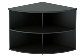 Nene Black Desk High Radial Bookcase