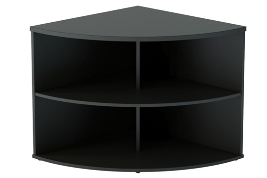 Nene Black Desk High Radial Bookcase