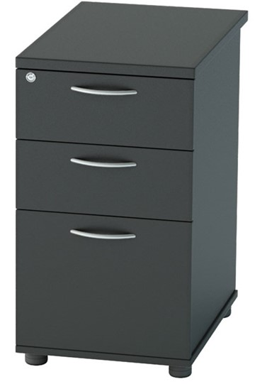 Nene Black Desk High Pedestal