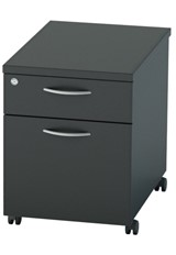 Nene Black Mobile Pedestal 2 Drawers
