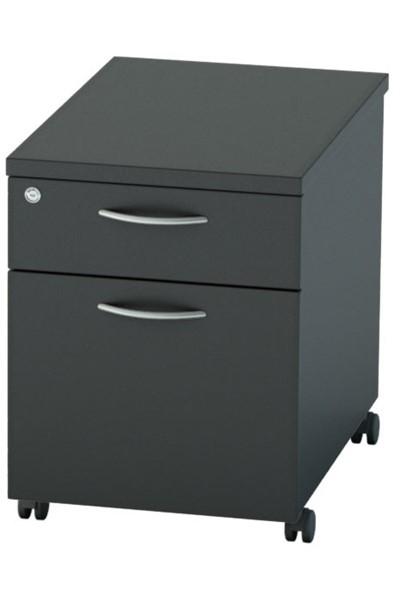 Nene Black Mobile Pedestal 2 Drawers