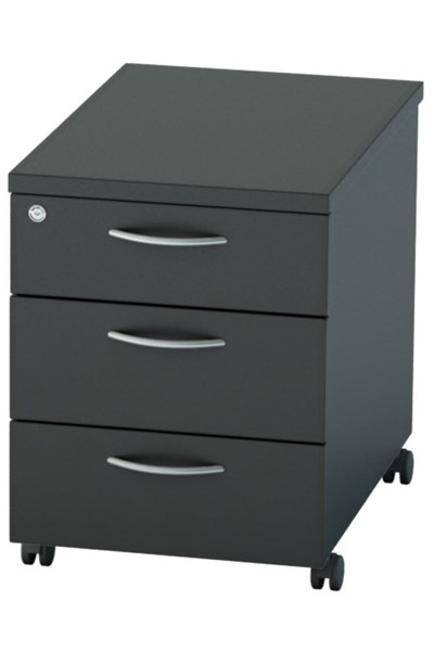 Nene Black Mobile Pedestal 3 Drawer