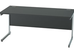 Nene Black Rectangular Cantilever Desk