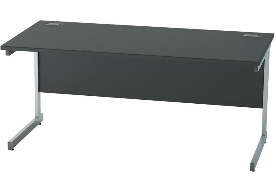 Genial Nene Black Rectangular Cantilever Desk