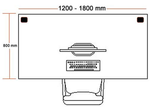 Avon White Rectangular Cantilever Desk