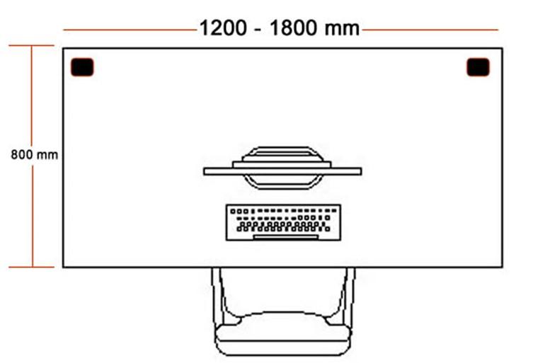Nene Black Rectangular Cantilever Desk