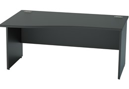 Nene Black Wave Panel Leg Desk
