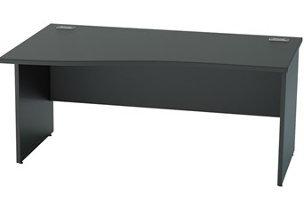 Nene Black Wave Desk - 1200mm x 800mm Left Hand Wave