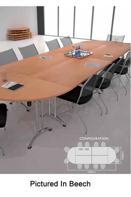 Thames Folding Semi Circular Table