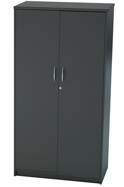 Nene Black Two Door Locking Cupboard